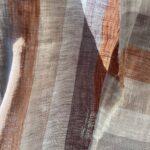полосатая ткань из конопли