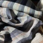 полосатая конопляная ткань