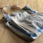 вязаная сумка из льна