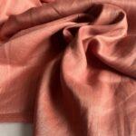 льняная ткань кирпичного цвета