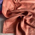 ткань изо льна терракотового цвета