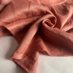 ткань из льна цвета терракота