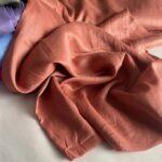 льняная ткань медного цвета