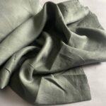 льняная ткань защитного цвета