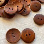 деревянные пуговицы коричневые