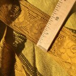льняное кружево цвет желтый