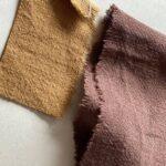крапивная ткань шоколадного цвета