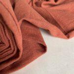 ткань из крапивы цвета терракота