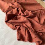 ткань из крапивы цвет терракота