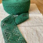 зеленое льняное кружево