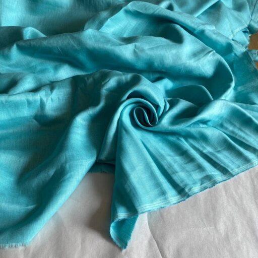 льняная ткань голубая
