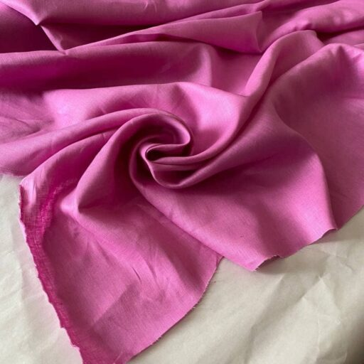 розовая льняная ткань
